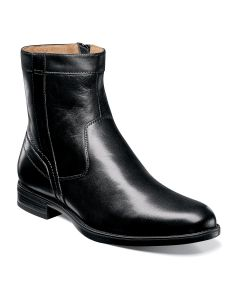 Florsheim Midtown Plain Toe Zipper Boot - Black