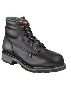 """Thorogood Black 6"""" Steel Toe Boots"""