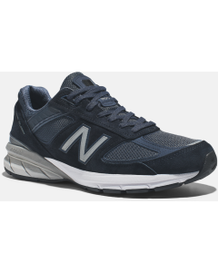 New Balance 990v5 Men's Running Shoe - Navy with Silver