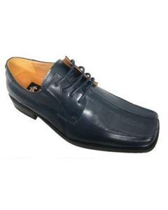 Zota Oxford Square Toe Navy Blue Dress Shoes