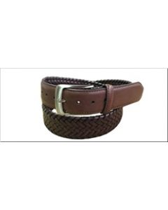 Danbury 35mm Leather Braided Dress Belt - Tan