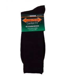 Extra Wide Dark Brown Dress Socks