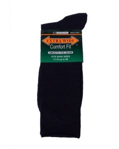 Extra Wide Navy Blue Dress Socks