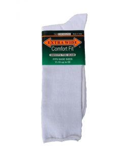 Extra Wide White Dress Socks
