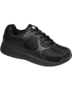 Drew Shoe Surge - Black Leather & Nubuck / Black Mesh