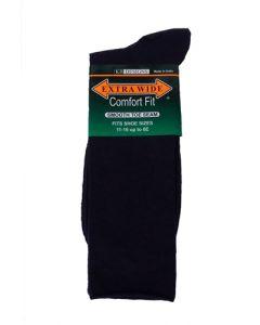 Extra Wide Navy Blue Dress Socks