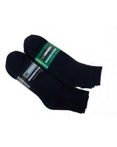 Large Size Athletic Quarter Socks Black - 3 pack