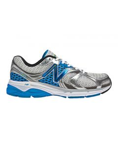 New Balance 940 Men's Running Shoe - Wihite with Silver & Kinetic Blue