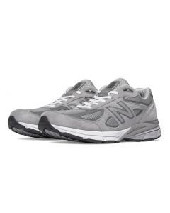 New Balance 990v4 Men's Running Shoe - Grey with White