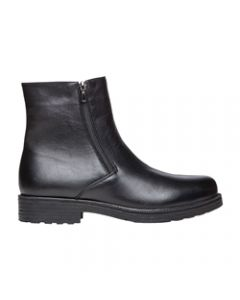 Propet Troy Twin-Zipper Dress Boot - Black
