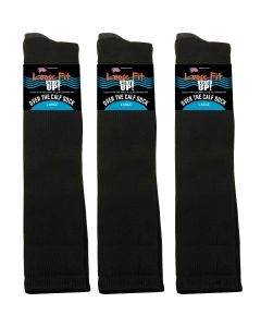Loose Fit Black Over the Calf Socks to EEEEE - 3pack