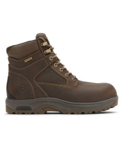 "Dunham 8000 Works 6"" Composite Safety Toe Boot - Brown Leather"
