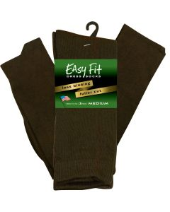 Easy Fit Dress Sock - Brown - 3 pack