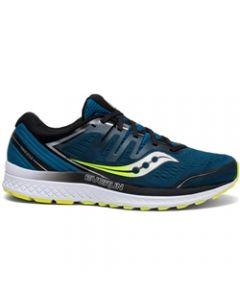 Saucony Everun Guide ISO 2 Men's Running Shoe - Marine / Citron