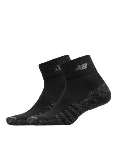 Mens Cushioned Quarter Socks - Black
