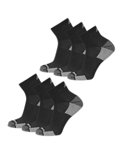 New Balance  Cushioned Ankle Socks - Black - 6-pack