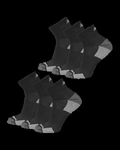 New Balance  Cushioned Ankle Socks - Black - 6-pack