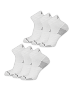 New Balance  Cushioned Ankle Socks - White - 6-pack