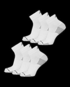 New Balance  Cushioned Ankle Socks - White - 6-pack