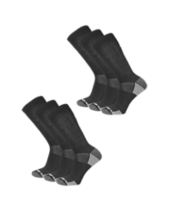 New Balance  Cushioned Crew Socks - Black - 6-pack