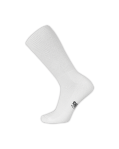 New Balance Wellness Crew Sock - White - Single Pair