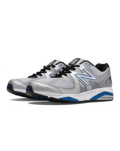 New Balance 1540v2 Men's Running Shoe - Silver with Blue