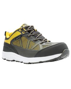 Propet Seeley Composite Toe Work Shoe - Grey / Yellow