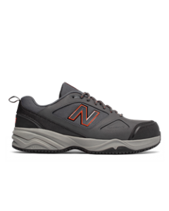 New Balance Steel Toe 627v2 Athletic Work Shoes - Grey with Orange