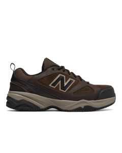 New Balance Steel Toe 627v2 Athletic Work Shoes - Brown with Black