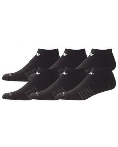 New Balance  Core Cotton Low Cut Socks - Black - 6-pack
