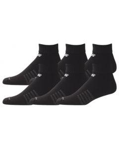 New Balance Core Cotton Quarter Socks - Black - 6-pack