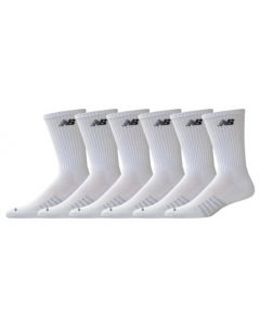 New Balance Core Cotton Crew Socks - White - 6-pack