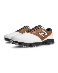 New Balance Golf 2001 Saddle Shoes - White with Brown