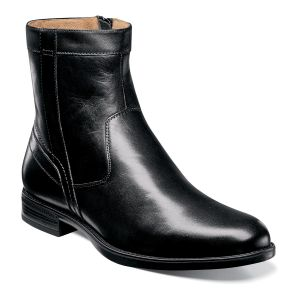 Florsheim Midtown Plain Toe Zipper Boot - Black