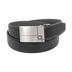 Florsheim 3116 - 35mm Lizard Grain Leather Dress Belt - Black