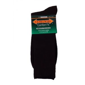 Extra Wide Dark Brown Dress Socks