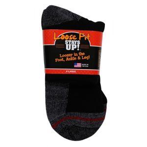 Loose Fit Stays Up! White Quarter Socks to EEEEE - Single Pair