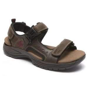 Dunham Nolan Adjustable Strap Sandals - Brown