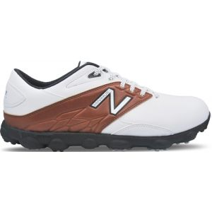 New Balance Minimus LX Golf Saddle Shoes - White with Brown