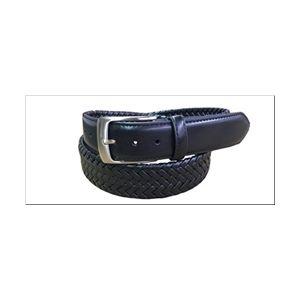 Danbury 35mm Leather Braided Dress Belt - Black
