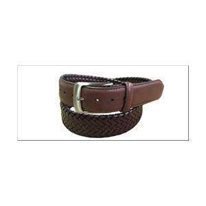 Danbury 35mm Leather Braided Dress Belt - Tan