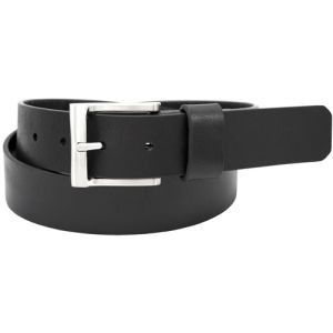 Florsheim 1190 - 35mm Buffalo Full-Grain Leather Casual Belt - Black