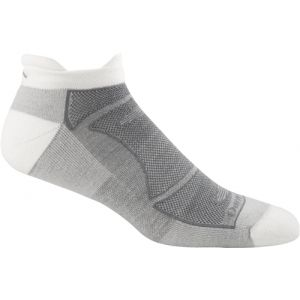 Darn Tough Tab No Show Light Cushion - Single Pair - White / Gray