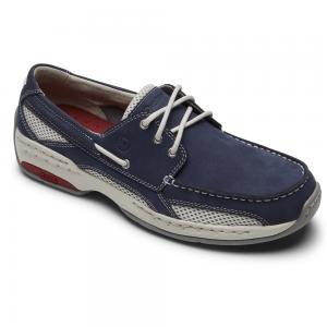 Dunham Captain - Navy Black Boat Shoes