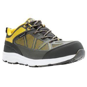 Propet Seeley Composite Toe Work Shoe - Grey / Yellow