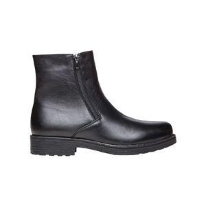 Propet Troy Twin-Zipper Dress Boot - Black