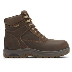 """Dunham 8000 Works 6"""" Composite Safety Toe Boot - Brown Leather"""