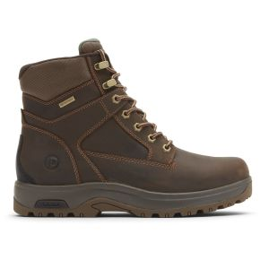 """Dunham 8000 Works 6"""" Soft Toe Boot - Brown Leather"""