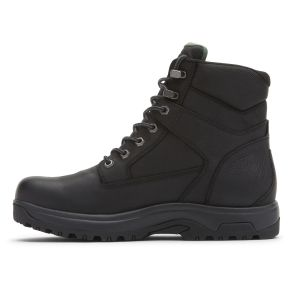 """Dunham 8000 Works 6"""" Soft Toe Boot - Black Leather"""