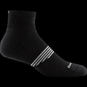 Darn Tough Element 1/4 Sock Light Cushion - Black - Single Pair